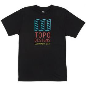 Topo Designs Original Logo T-Shirt Homme, black